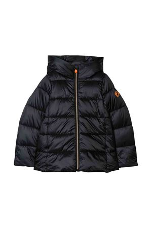 Black teen lightweight jacket with hood Save the duck kids SAVE THE DUCK | 13 | J4565GIRIS900001T