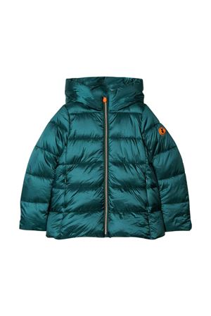Green teen lightweight jacket with hood Save the duck kids SAVE THE DUCK | 13 | J4565GIRIS901474T