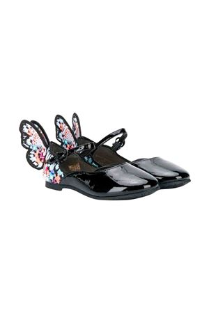 Black Sophia Webster Mini teen ballet flats SOPHIA WEBSTER MINI | 12 | CHIARAEMBROIDERYJUNIORBLACK&MULTIT