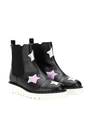 Black teen boots with applications Stella McCartney kids STELLA MCCARTNEY KIDS | 12 | 566350SND151073T