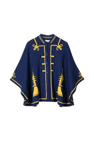 Blue cape with golden details Stella McCartney kids STELLA MCCARTNEY KIDS | 5032269 | 566369SNM314100
