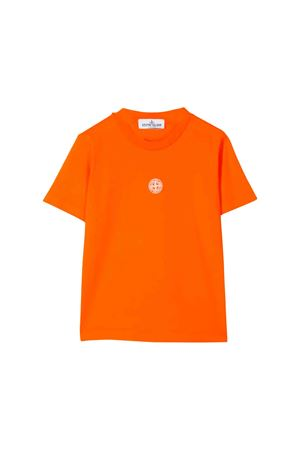 Stone Island Junior teen orange t-shirt  STONE ISLAND JUNIOR | 8 | 711621053V0032T