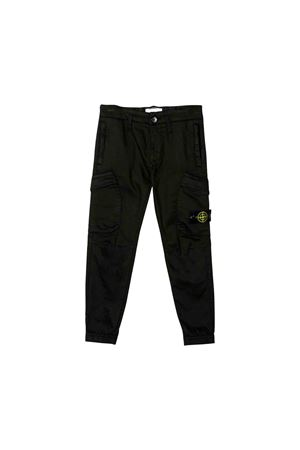 Black Stone Island junior long trousers STONE ISLAND JUNIOR | 9 | 711630214V0029