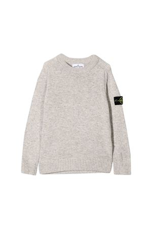 Stone Island Junior pearl gray sweater  STONE ISLAND JUNIOR | 7 | 7116506A1V0061
