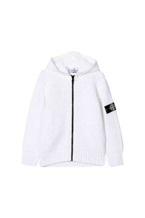Stone Island Junior teen wool white sweatshirt  STONE ISLAND JUNIOR | 7 | 7116519A5V0001T