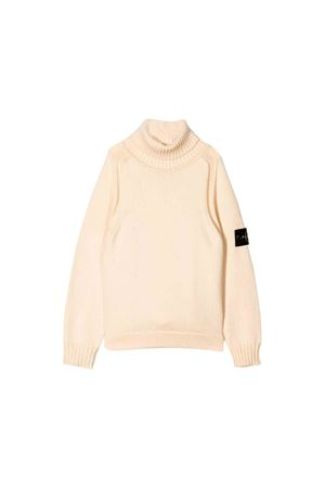 Turtleneck cream sweater Stone Island Junior  STONE ISLAND JUNIOR | 7 | 7116520A2V0093