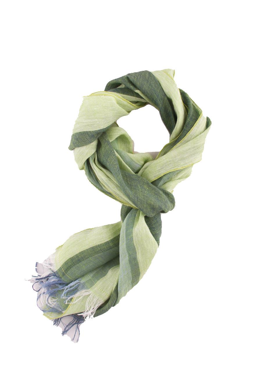 più recente vendita più economica alta qualità Sciarpa bicolor in lino verde chiaro e scuro - Colori Di ...
