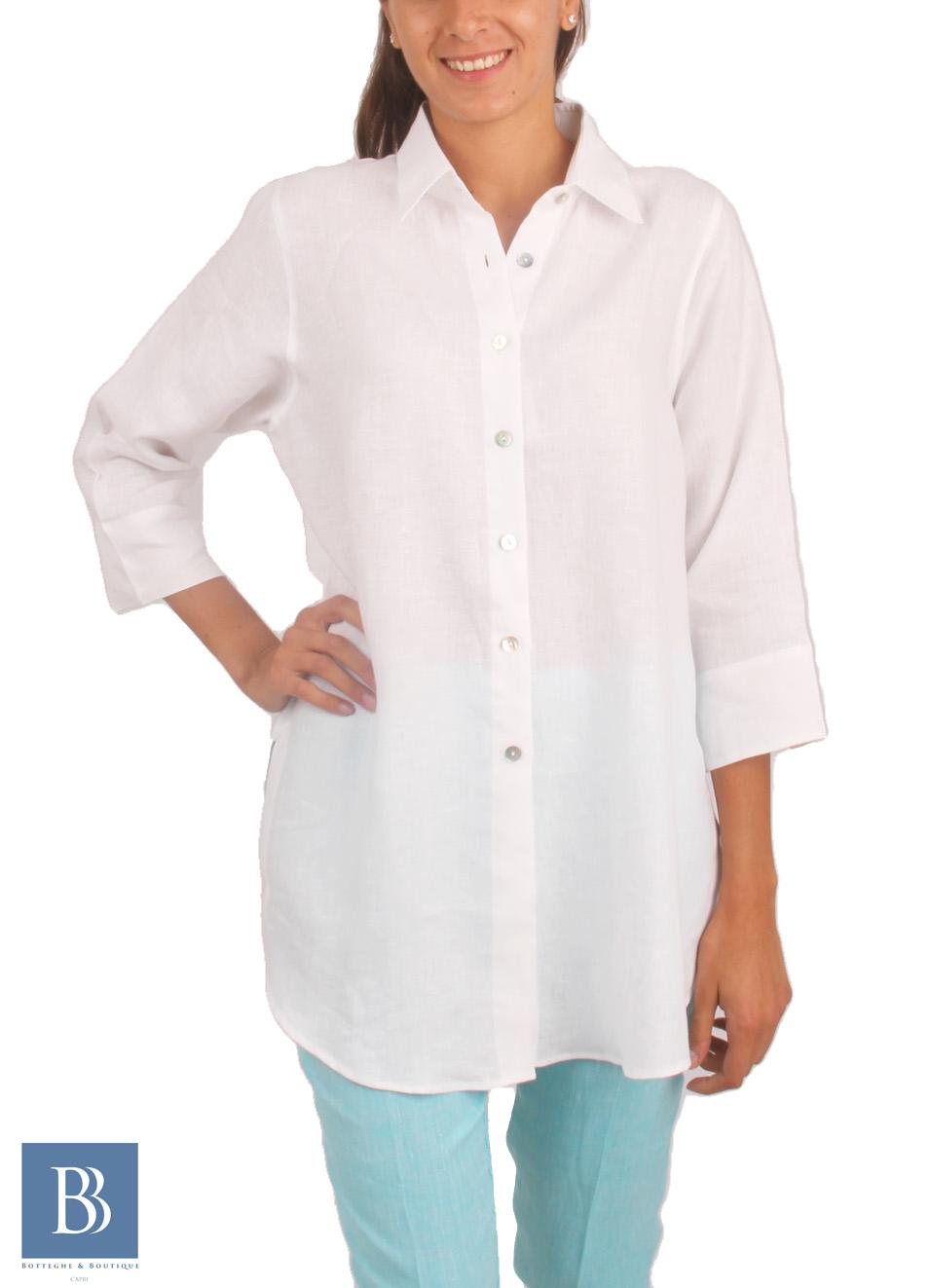 competitive price dac5a b26f5 Camicia artigianale da donna in lino - Colori Di Capri ...