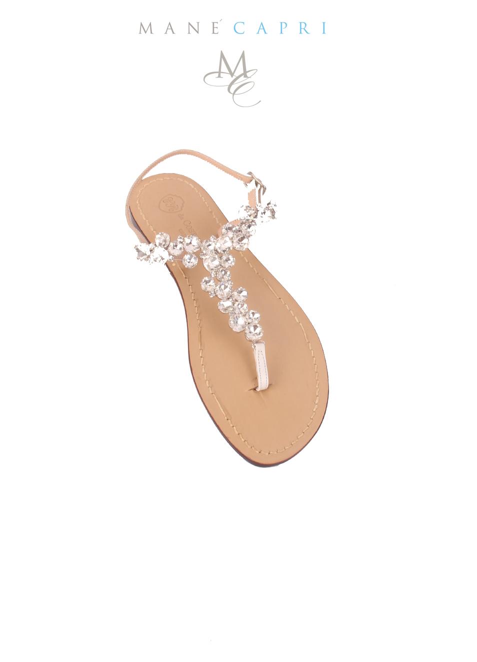 detailed look 5ef6e 0755d Sandali gioiello bassi da sposa
