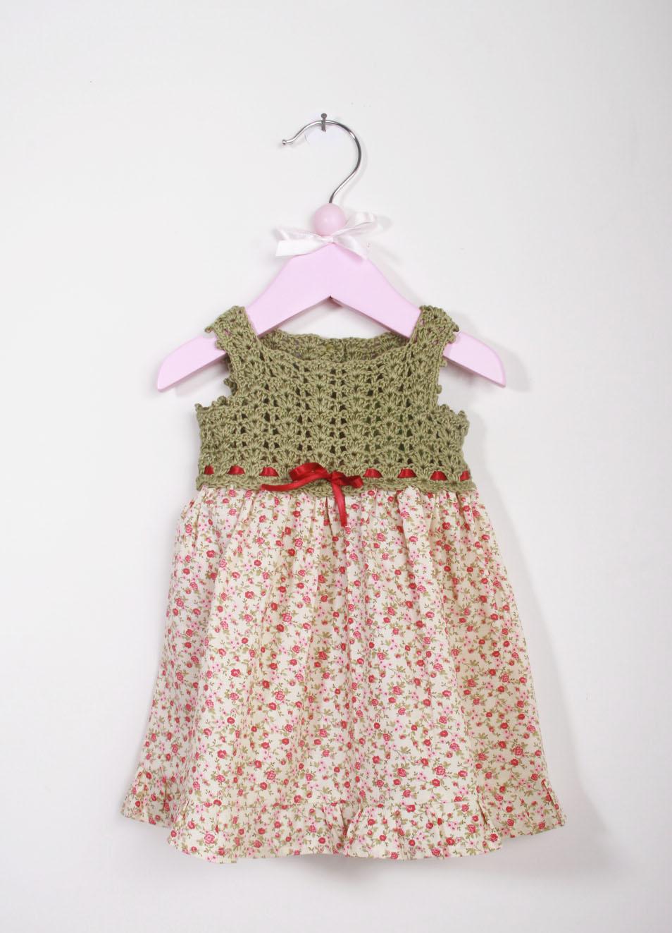 Vestito A Fiori Alluncinetto Da Bambina La Bottega Delle Idee