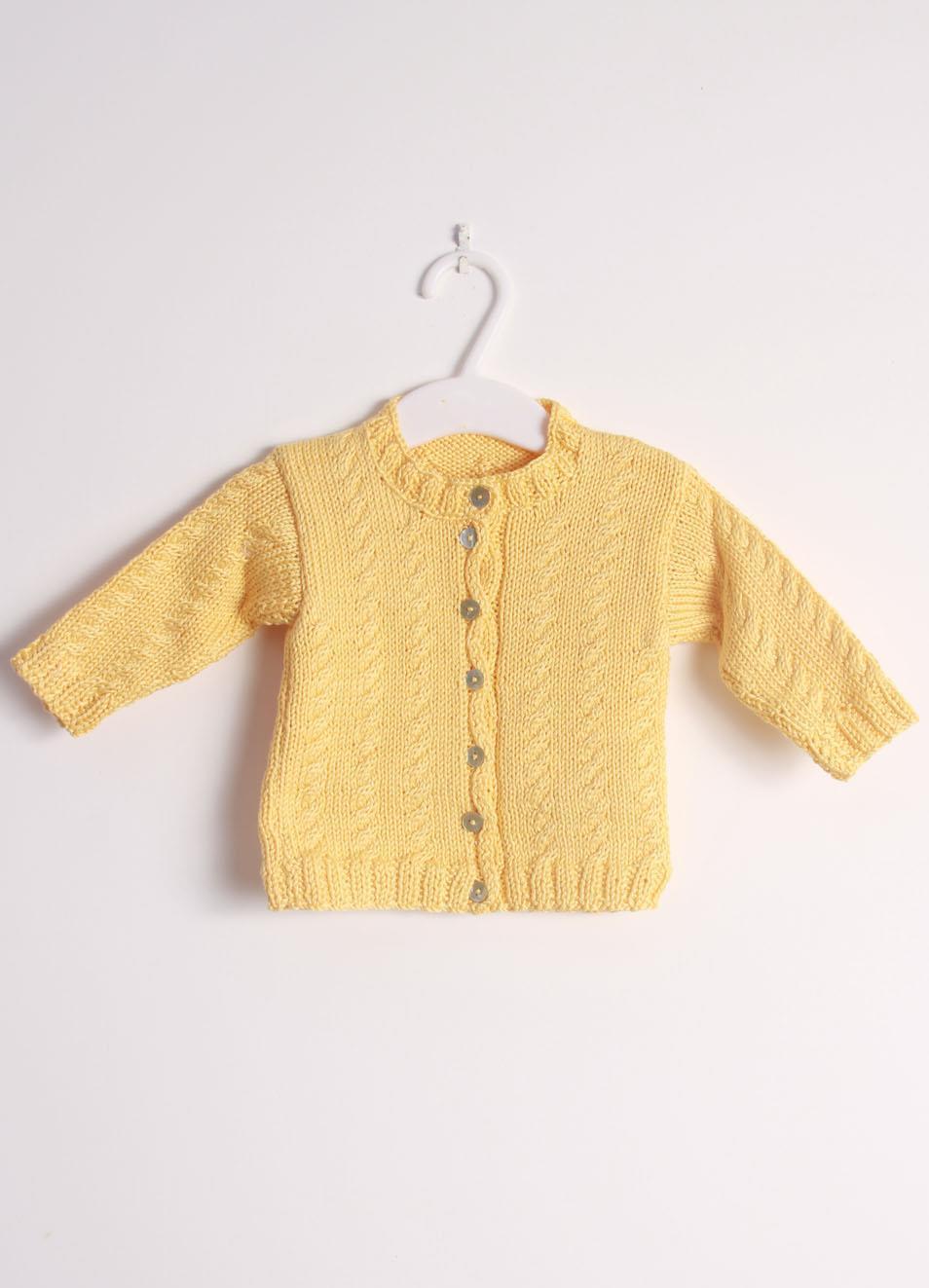 innovative design 96823 ac25a Cardigan da neonato / a in cotone giallo