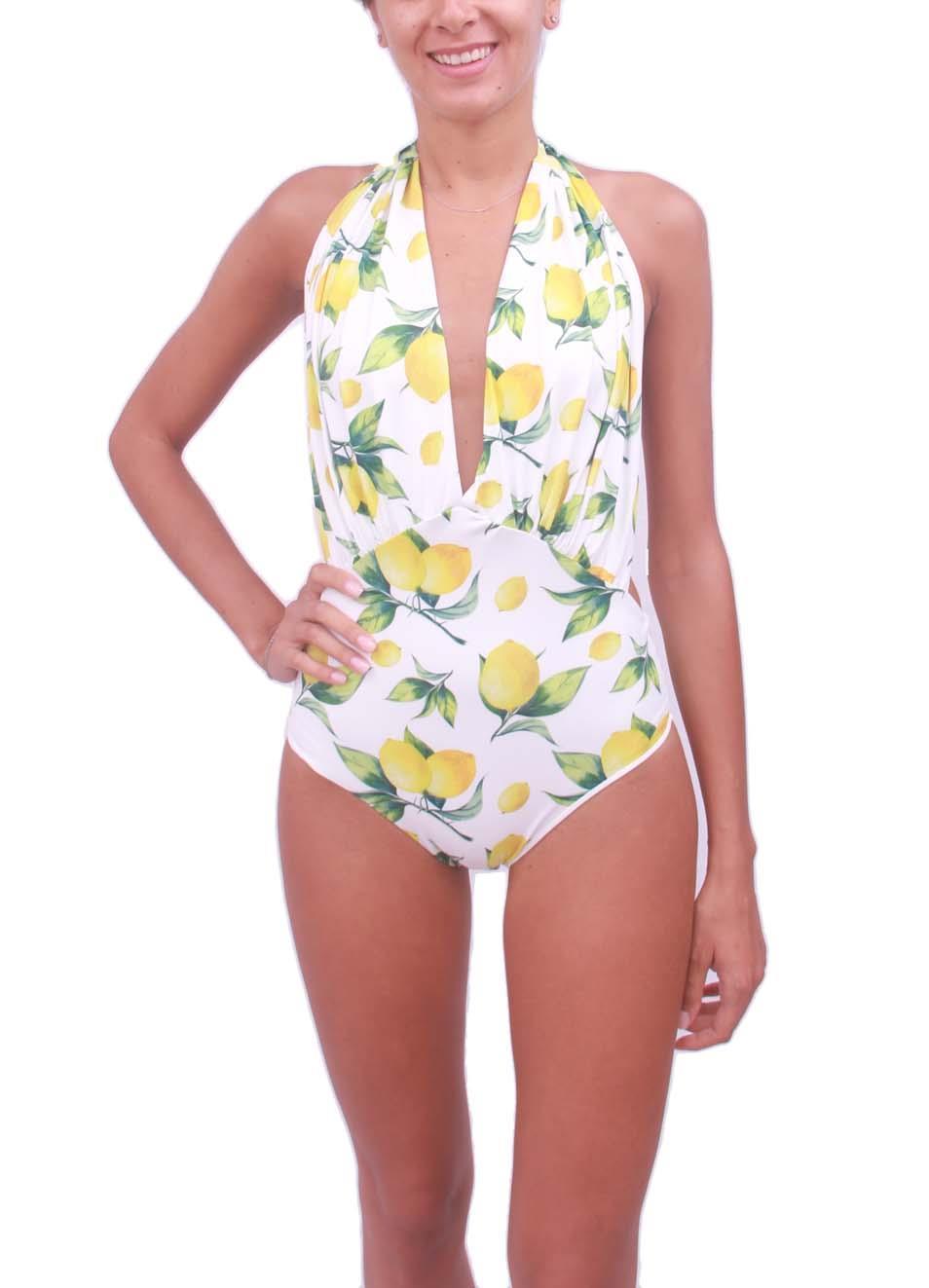 7ce957a16 Woman lemon swimsuit whole - Aram Capri - Manecapri