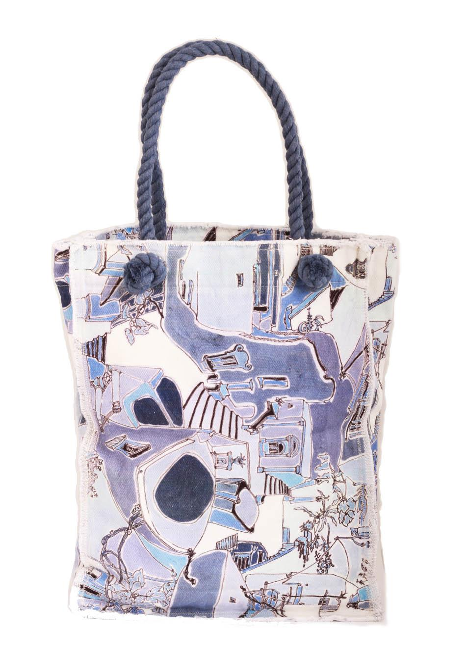 Cotton shopper bag Piazzetta of Capri