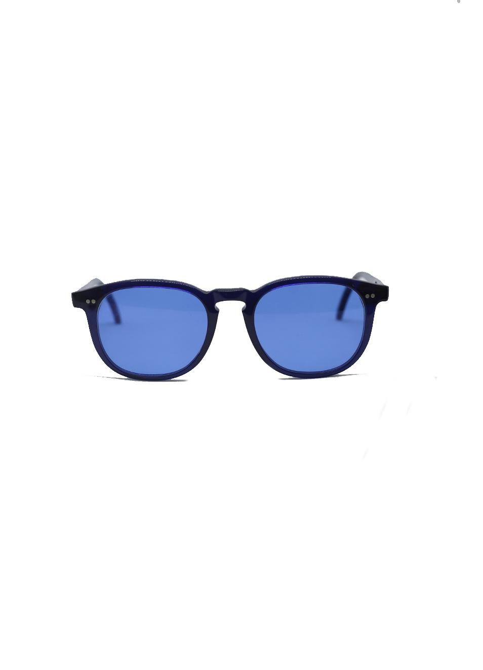 vari stili design professionale in vendita all'ingrosso Occhiali da sole blu con lenti azzurre