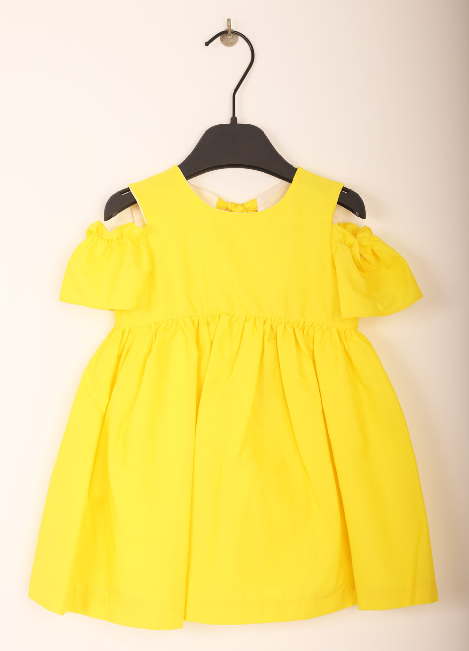 Yellow elegant dress for new born & baby girl - Jo Milano - Manecapri