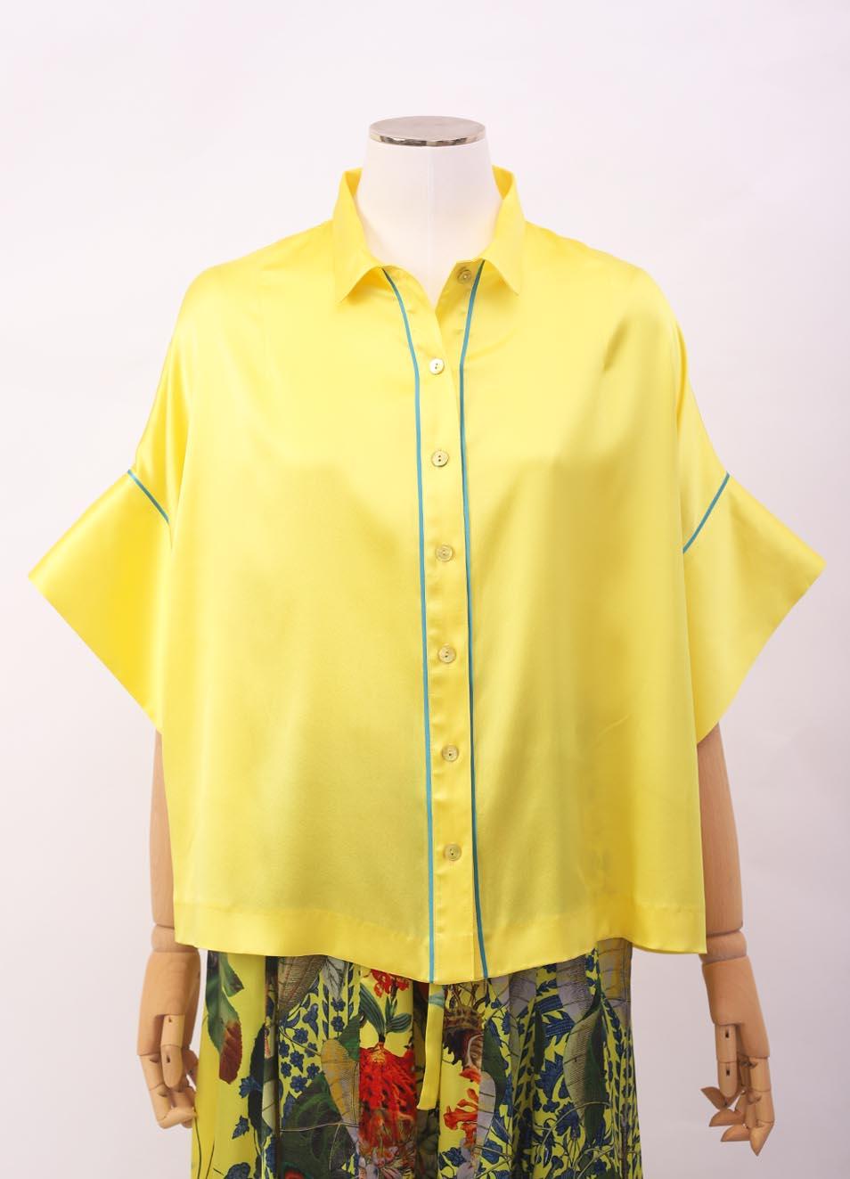 miglior servizio bc2a9 178ed Camicia in seta gialla con manica larga