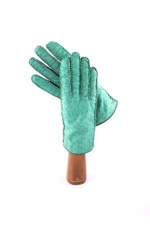 Guanti in pelle Capri Gloves | 34 | 78OSTRICHEMERALD