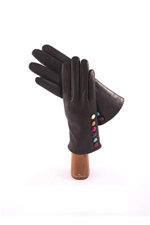 Guanti in pelle con bottoncini colorati Capri Gloves | 34 | CA075NERO