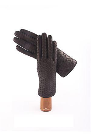 Lambskin twisted black gloves  Capri Gloves | 34 | CA076NERO
