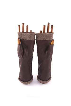 Lambskin gloves fingerless style  Capri Gloves | 34 | CA2334NERO