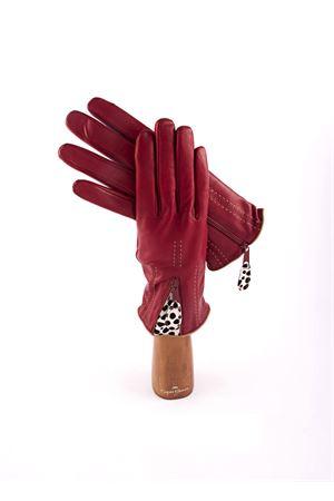 Guanti in pelle rossa con inserto in cavallino Capri Gloves | 34 | CA2420REDBEIGE