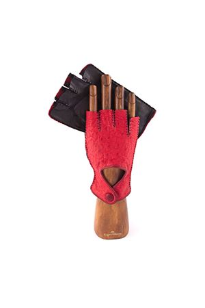 Lambskin gloves Capri Gloves | 34 | CA573OSTRICHUBLACKRED