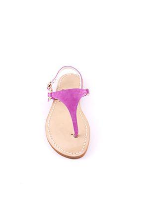 Pink Capri sandals in suede Cuccurullo | 5032256 | CUC05FUCSIA
