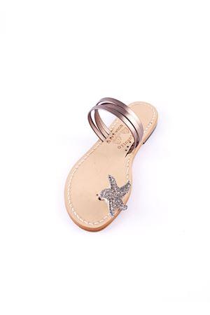Jewels Capri sandals with bronze star Cuccurullo   5032256   CUC06ARGENTO