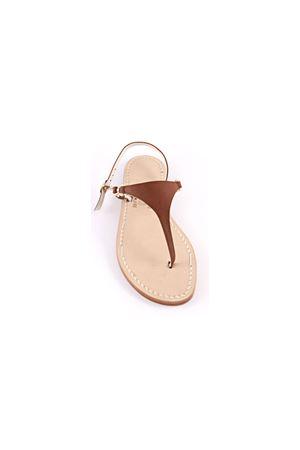 Brown leather Capri sandals  Cuccurullo | 5032256 | CUC10MARRONE