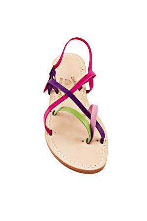 Sandalo Caprese con fasce multicolor Cuccurullo | 5032256 | CUC13MULTICOLOR