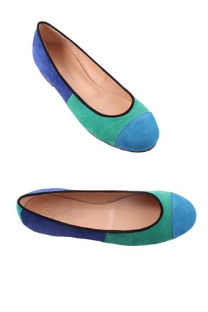 Suede Ballerina flat shoes Da Costanzo | 5032261 | ARIZONABLU/VERDE