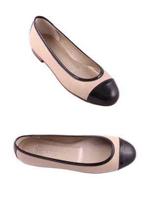 Capri Ballerina flat shoes Da Costanzo | 5032261 | BLACKNUDENUDEBLACK