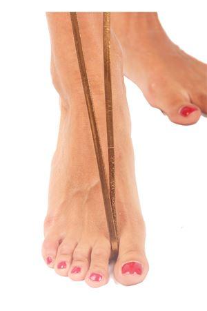 Bronze Capri Sandals Da Costanzo | 5032256 | FORCA INTRECCIATALAMINATO BRONZO