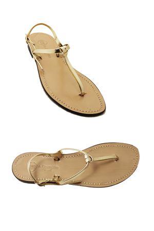 Platinum knot Capri Sandals Da Costanzo | 5032256 | INTRECCIO OROORO