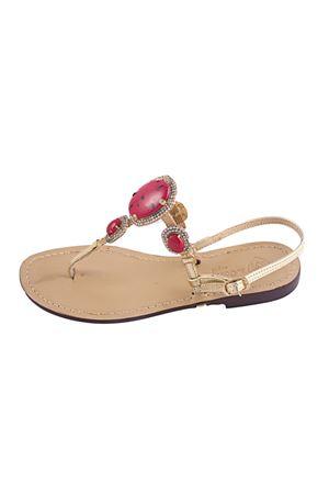 Capri sandal  Da Costanzo   5032256   S1538CORALLO