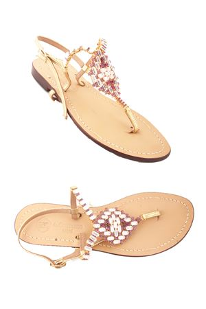 Capri Jewel Sandals Da Costanzo | 5032256 | S3062VIOLA/BIANCO