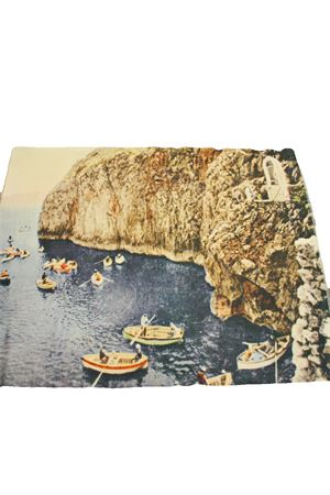 Capri postcard Plaid Laboratorio Capri | 20000024 | INGRESSO GROTTAGROTTA AZZURRA