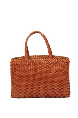 Borsa artigianale in pelle intrecciata arancione Laboratorio Capri | 31 | LAB51CAMMELLO