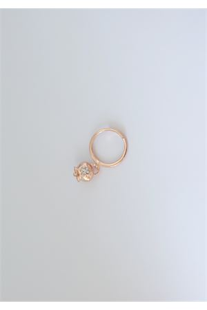 Rosy silver ring with white zircons quatrefoil  Pierino Jewels | 5032250 | 4021ROSA