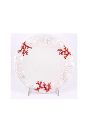 Fruit dish with marine motifs Sea Gull Capri | 20000026 | 16540ROSSO