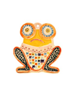 Mattonella decorativa a forma di Rana Sea Gull Capri | 20000004 | RANA MATRANAGIALLA