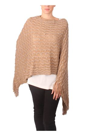 Poncho with sequins application Aram Capri | 52 | PNPLFFW16-BGBEIGE