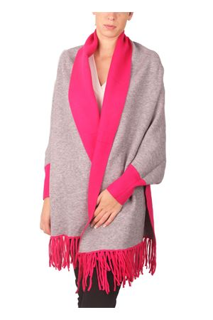 Reversible poncho with fringes in wool and cashmere Aram V Capri | 3 | PNSEFFW16-GFGRIGIO