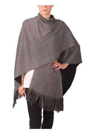 black and grey reversible wool poncho Aram Capri | 1375490853 | SEFFW16-GBGRIGIO