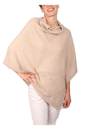 Wool and cashmere poncho Art Tricot | 52 | 2016115BEIGE