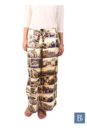 Silk handmade trousers Laboratorio Capri | 9 | POSTCARD PANTSCARTOLINE