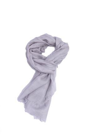 Grey silk and cashmare unisex scarf Colori Di Capri | 77 | COLCASHSILKGRIGIO