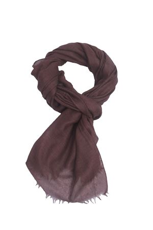 Brown scarf in cashmere and silk Colori Di Capri | 77 | COLCASHSILKMARRONE