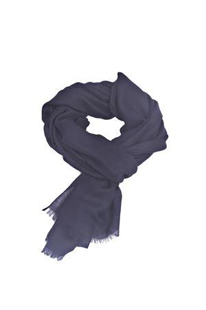Lunga sciarpa in puro cachemire blu Colori Di Capri | 77 | VFC745BLU