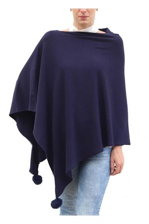 Poncho in misto lana blu Aram V Capri | 52 | PONCHO ARAMBLU